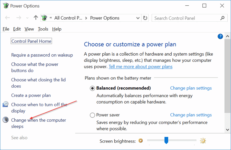 enable or disable sleep mode in Windows 10 pic7