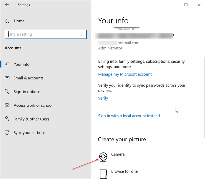 set video as user account picture in Windows 10