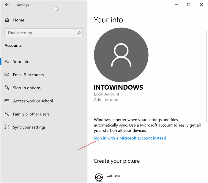 use gmail yahoo, icloud to sign in to Windows 10