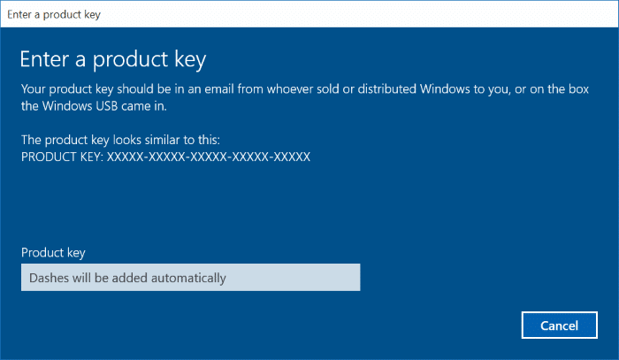 Activate Windows 10 using Windows 7, 8, 8.1 product key