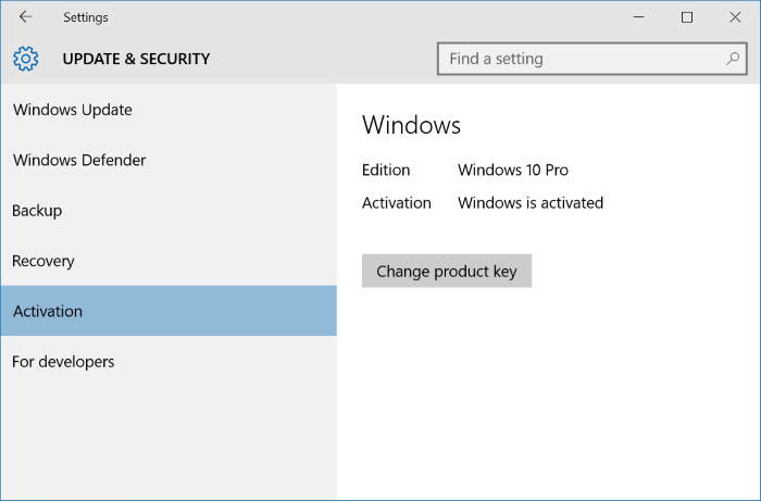 Activate Windows 10 with Windows 7, 8, 8.1 product key