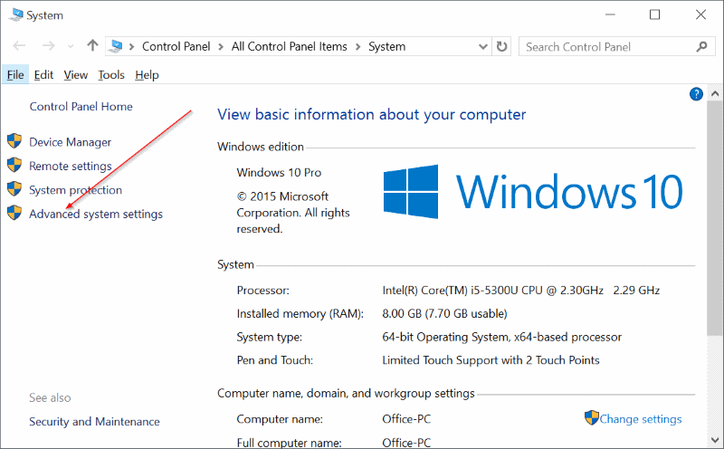 Disable auto click windows 10 15