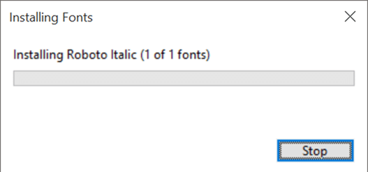 Install fonts in Windows 10 pic5