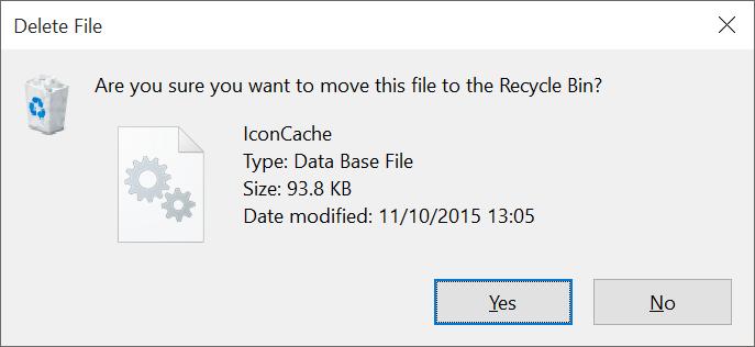 Rebuild Windows 10 icon cache step5