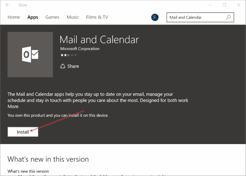 Reinstall Mail app in Windows 10pic5