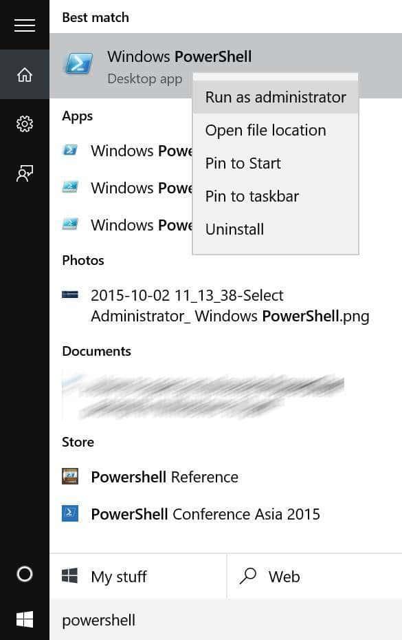 Reinstall Microsoft Edge In Windows 10 step1