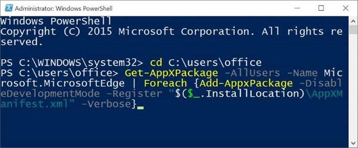 Reinstall Microsoft Edge In Windows 10 step9