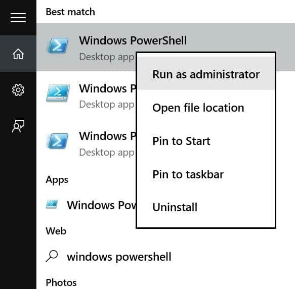 Reinstall Store and other preinstalled apps On Windows 10 pic01