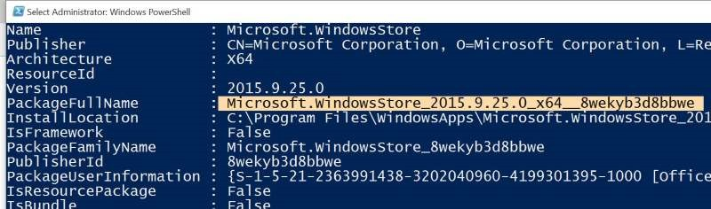 Reinstall Store and other preinstalled apps On Windows 10 pic2
