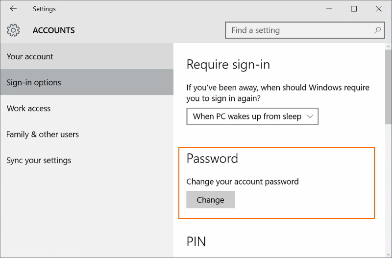 Reset or change Microsoft account password Windows 10 pic02