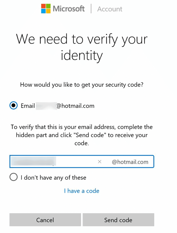 how to get a microsoft account password