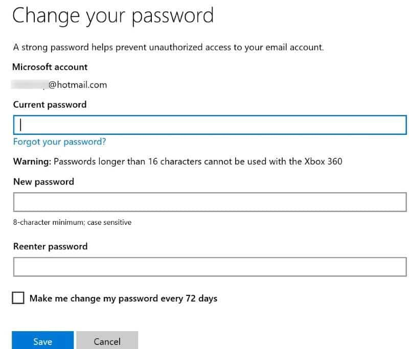 Reset or change Microsoft account password Windows 10 pic19