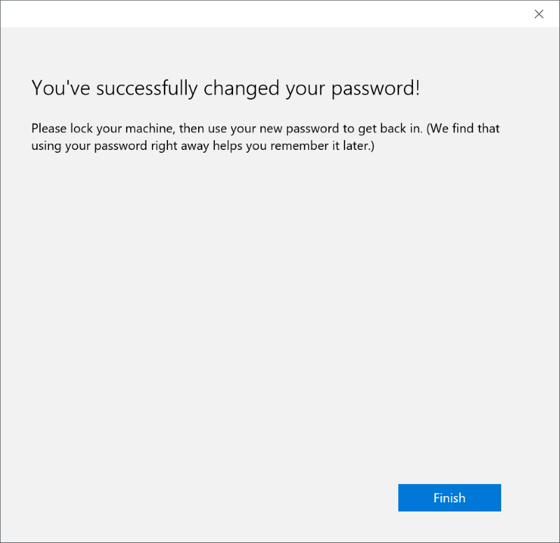 Reset or change Microsoft account password Windows 10 pic5