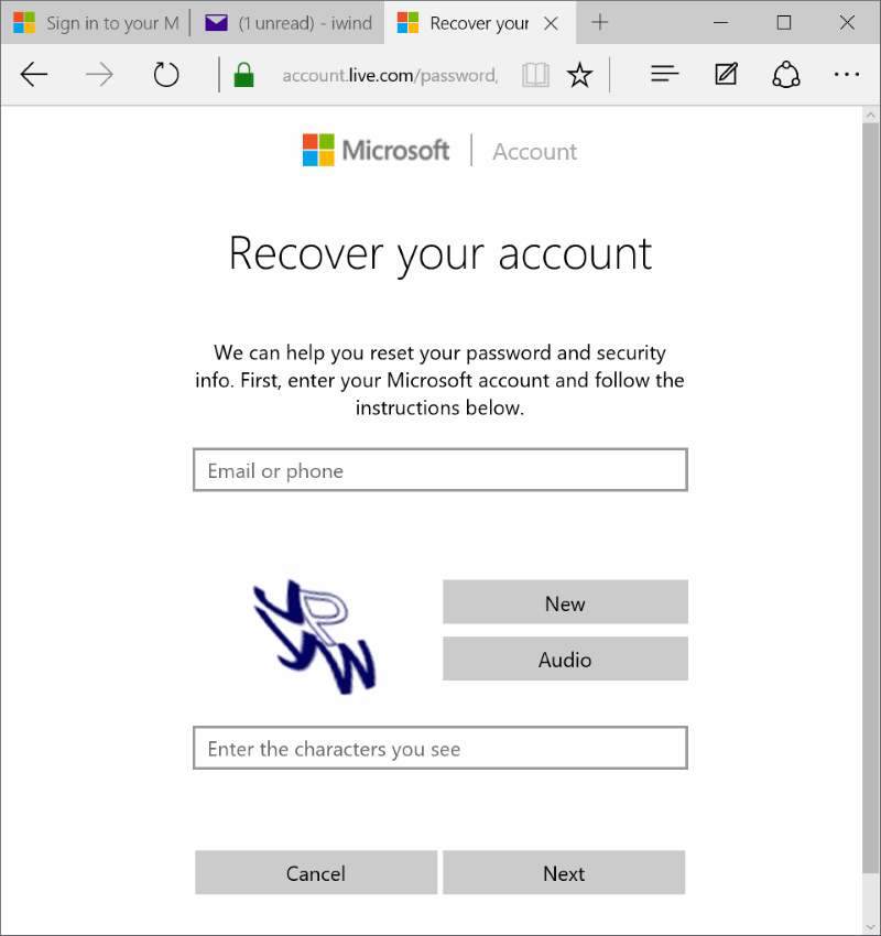 Reset or change Microsoft account password Windows 10 pic9