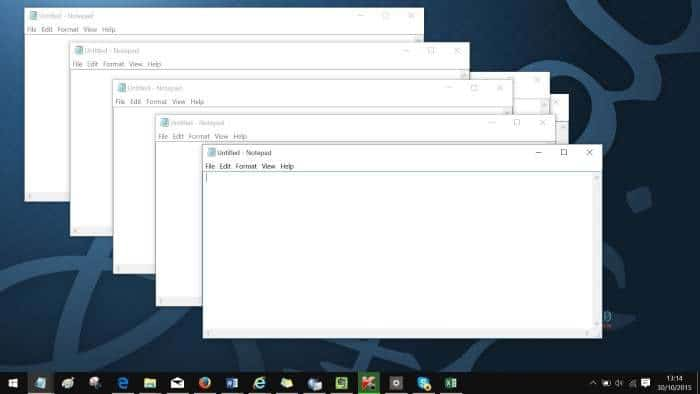 Run another instance of a program in Windows 10