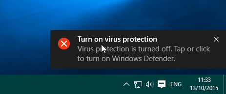Turn on or off Windows Defender Real time protection in Windows 10 pic5