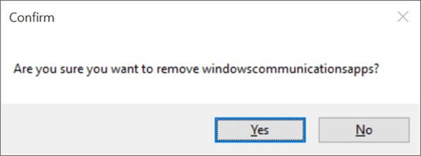 Windows 10 App Remover to reinstall Mail app