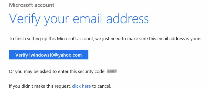 How To Verify Microsoft Account Email Address In Windows 10