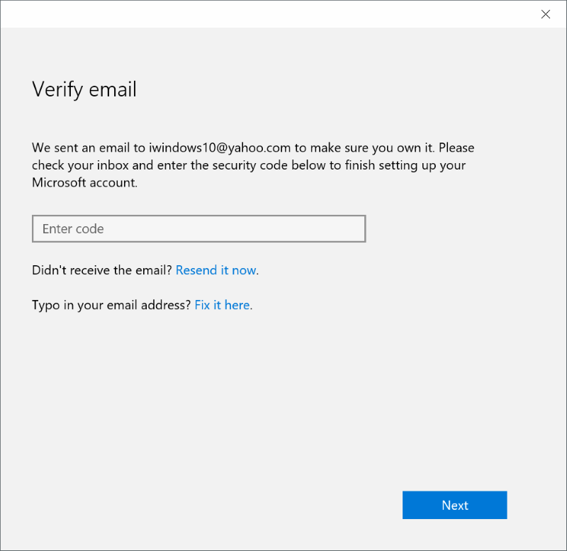 How To Verify Microsoft Account Email Address In Windows - Make own email