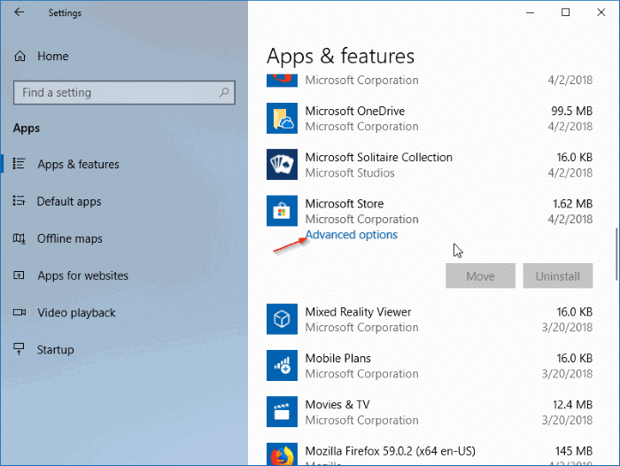 reinstall the store app in Windows 10