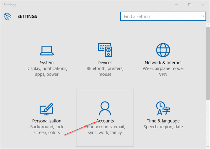 Add password to local user account in Windows 10 step2