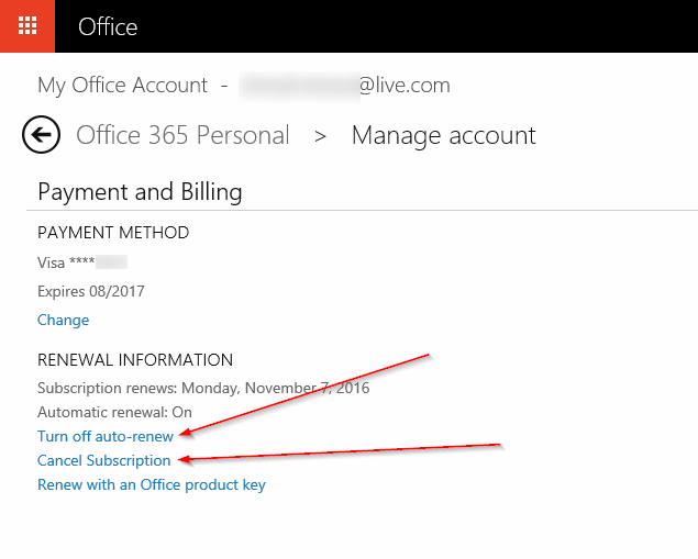 How To Turn Off Office 365 Auto-Renewal Or Cancel Subscription