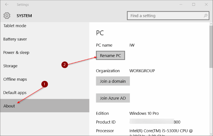 Change Computer Name in Windows 10 pic10