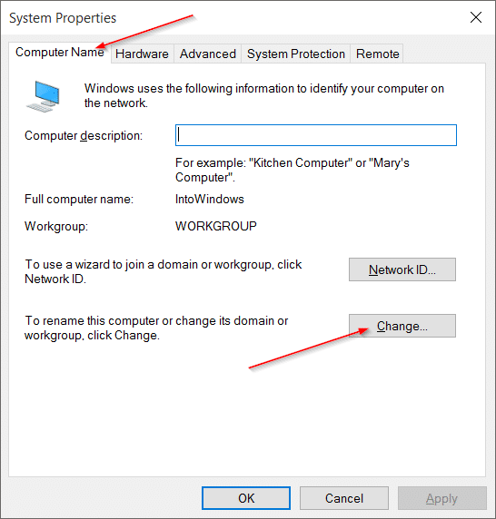 Change Computer Name in Windows 10 pic3