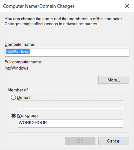 how to change your administrator name on windows 10