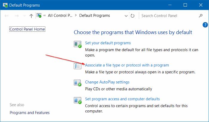 Change the default PDF reader in Windows 10 step6