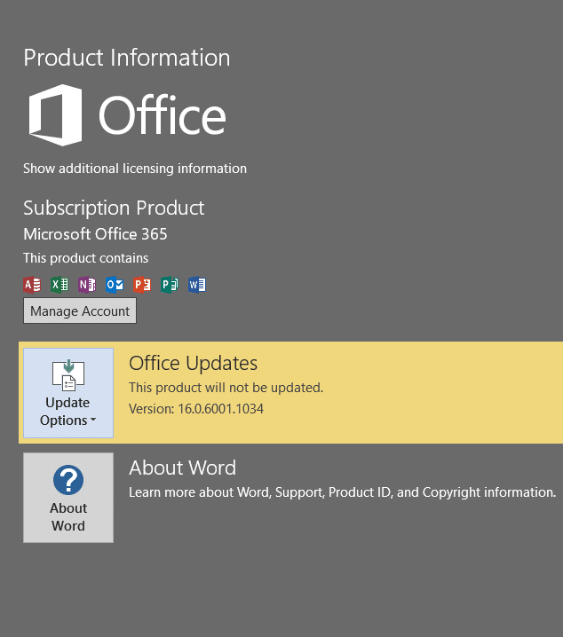 Disable Office 2016 updates pic3