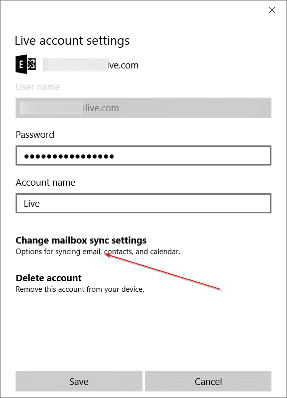 Fix Mail App Sync Issues in Windows 10 pic4
