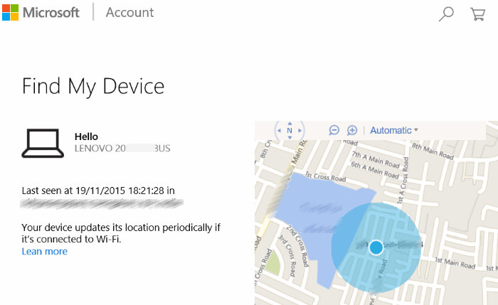 How to use Find My Phone in Windows 10 step2