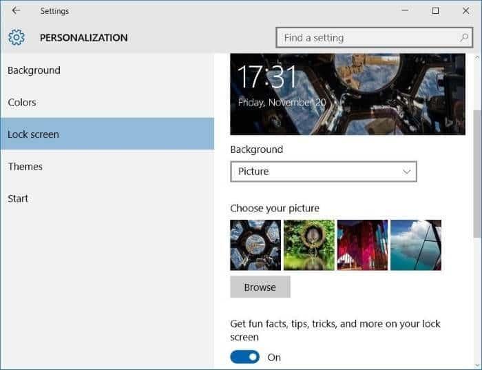 Like what you see on Windows 10 lock screen step4