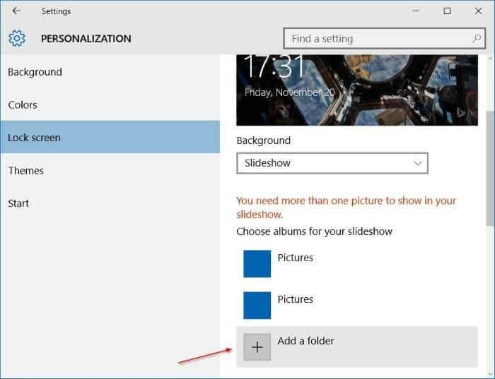 Like what you see on Windows 10 lock screen step5