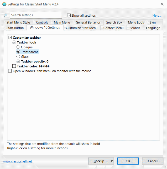 Make Windows 10 taskbar 100% transparent pic6