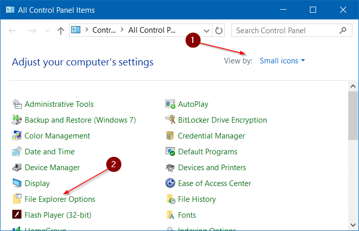 how to go to folder options in windows 10