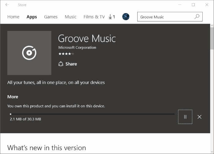 Reinstall Groove Music in Windows 10 pic9.1