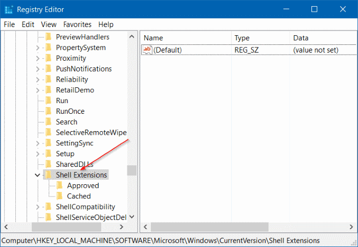 Remove Cast to device from context menu in Windows 10 step2