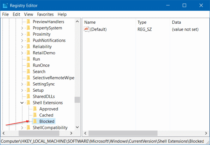 Remove Cast to device from context menu in Windows 10 step4