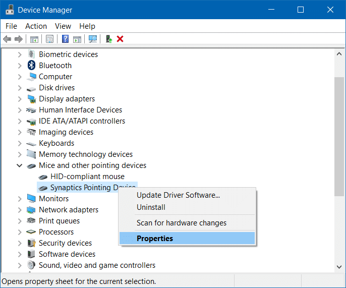 Roll back or restore previous version of a driver in Windows 10 step3