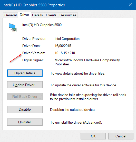 Roll back or restore previous version of a driver in Windows 10 step7.2