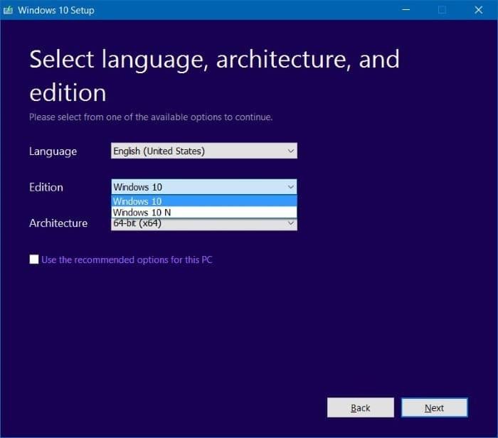 Créer un fichier ISO pour Windows 10 - support.microsoft.com