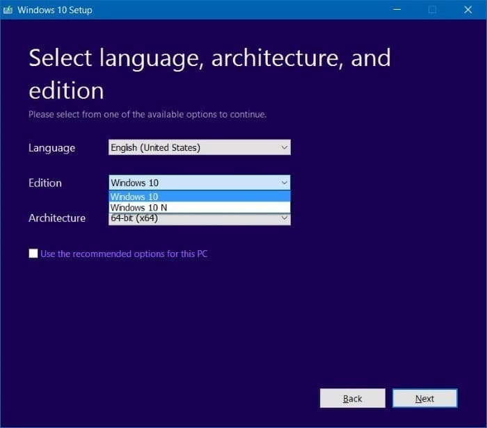 Select Windows 10 Pro edition while installing Windows 10 step001