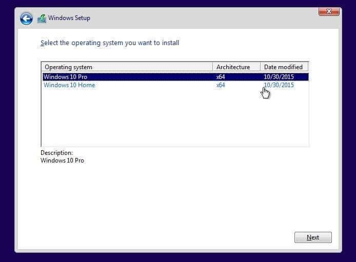 microsoft windows 10 pro clean install