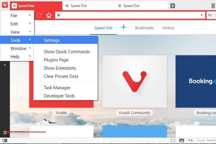 Set Google as default search engine in Vivaldi browser pic1