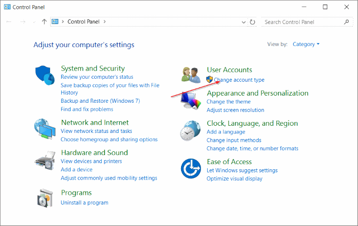Standard account to administrator account Windows 10 pic7