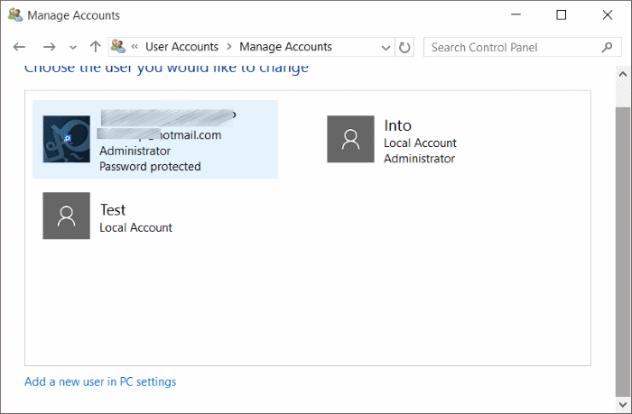 Standard account to administrator account Windows 10 pic8