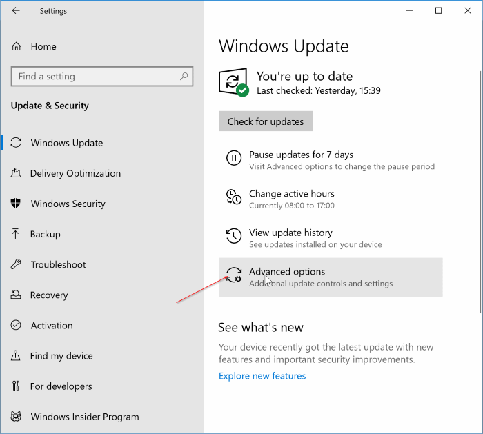 disable Office 365 updates in Windows 10 pic3