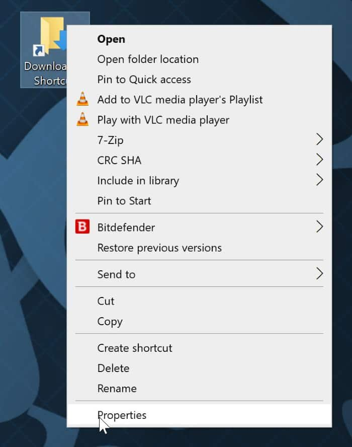 pin desktop and downloads to taskbar in Windows 10 pic1